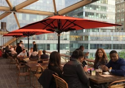 Commercial parasol - canary wharf
