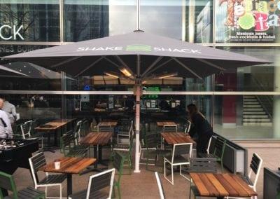 Commercial parasol - shake shack