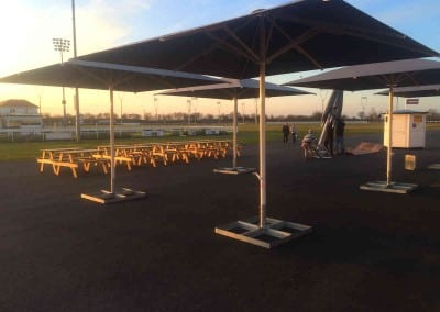 Giant Commercial Parasols for Chelmsford Race Course