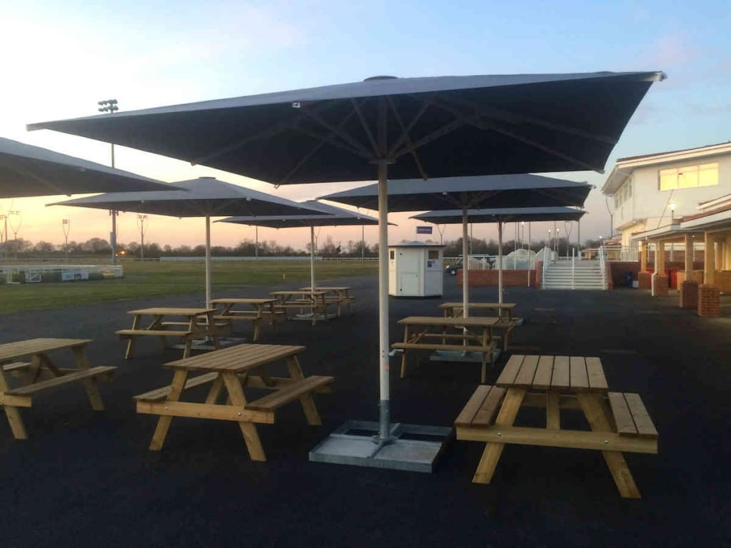 Giant Commercial Parasols Chelmsford Race Course