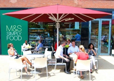 Commercial Parasols for M & S Cafe