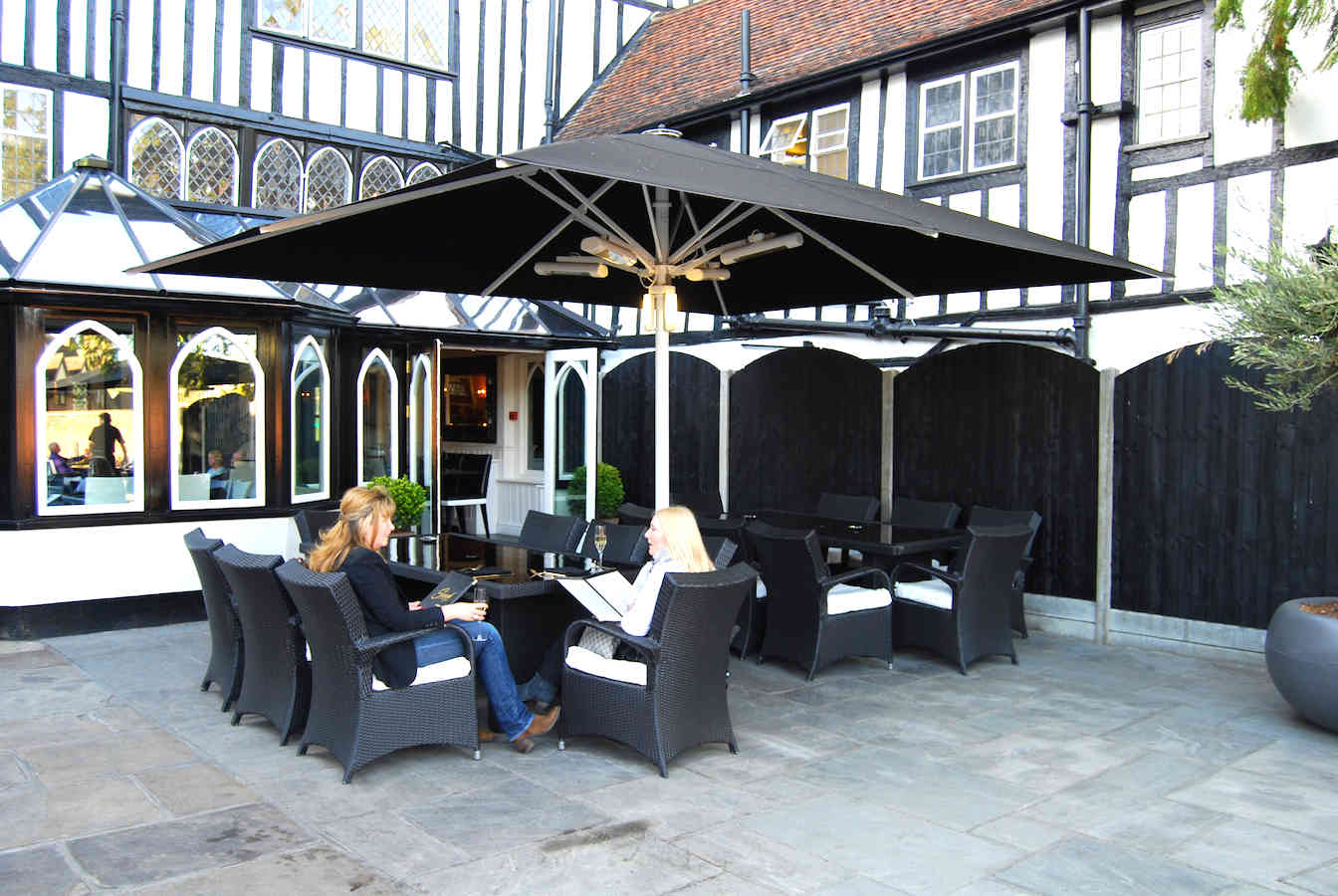 Giant Commercial Parasol Sheesh Restaurant Chigwell
