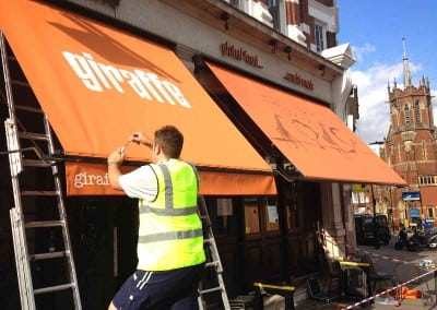 Victorian Awnings for Giraffe Restaurant