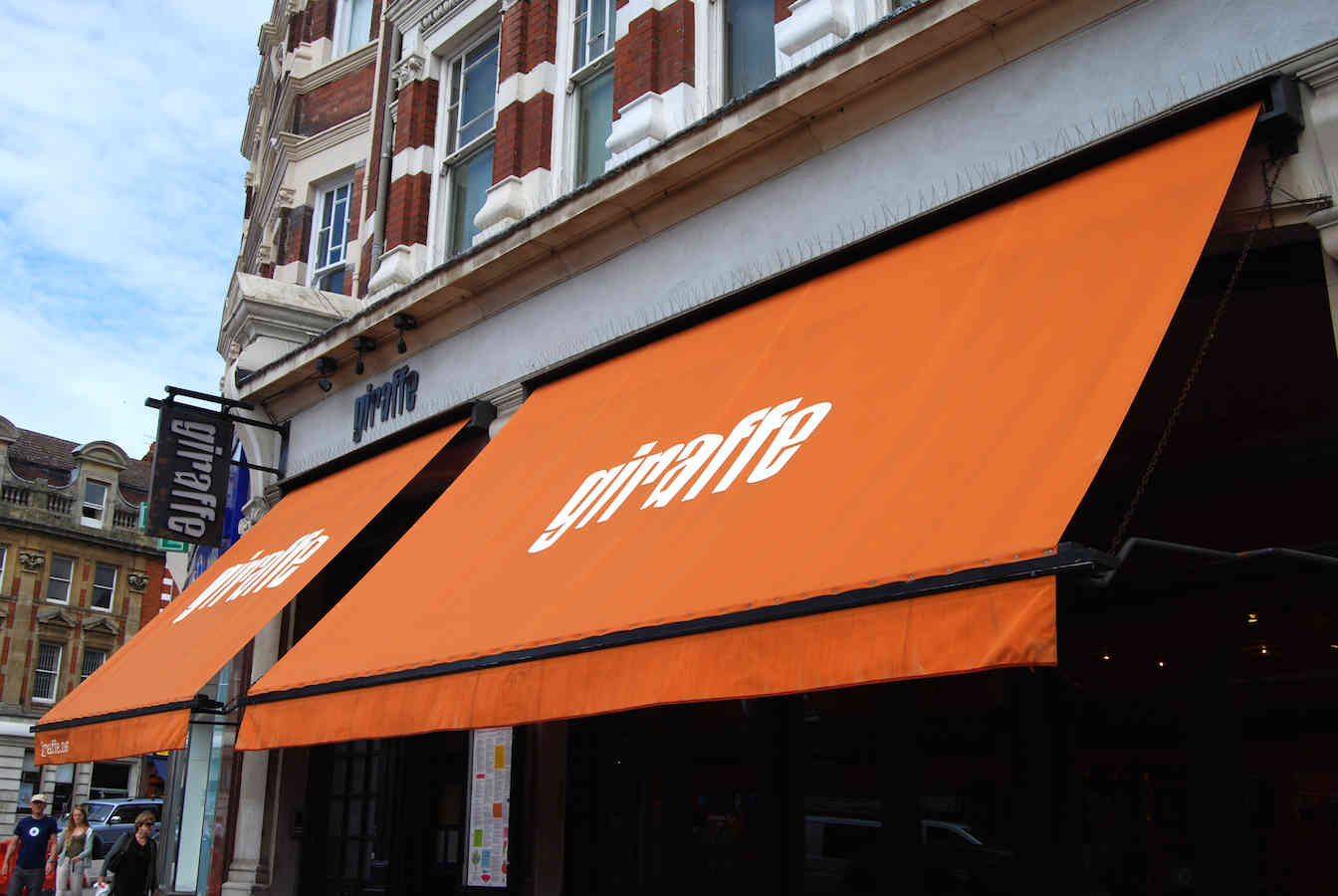 Victorian Awnings London – Giraffe Restaurant