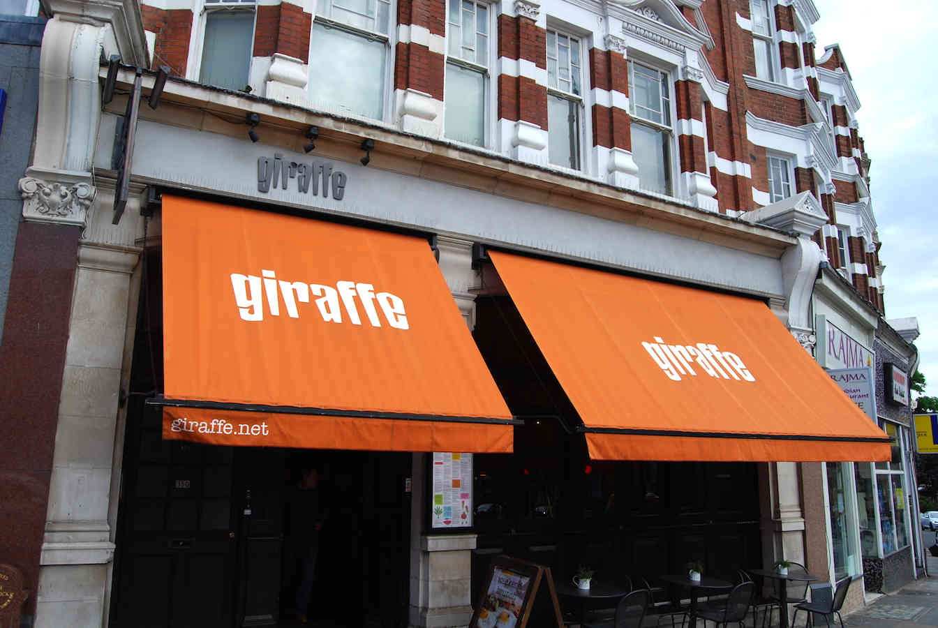 Victorian Awnings London Giraffe Restaurant Alfresco Solutions