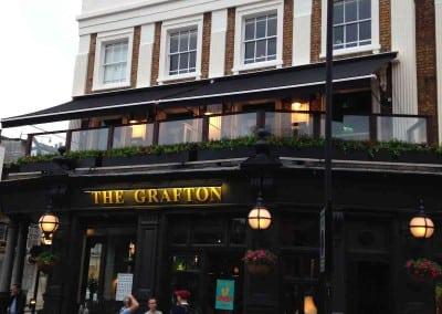 Victorian Awning at the Grafton Pub London