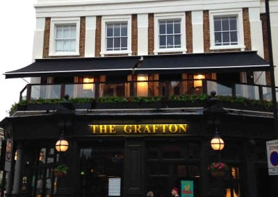 Victorian Awning at the Grafton Pub London