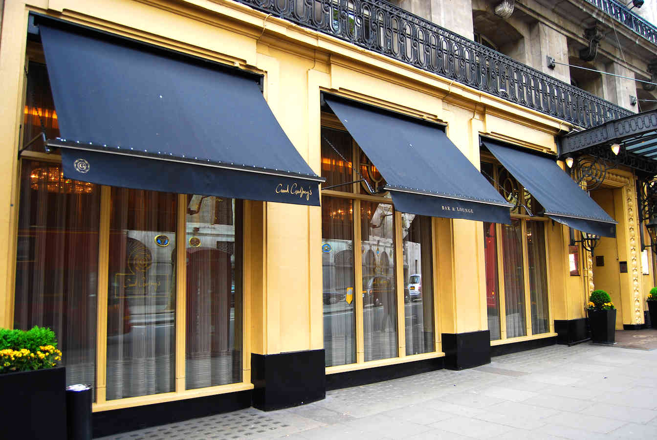 Victorian Awnings London – Waldorf Hotel | Alfresco ...