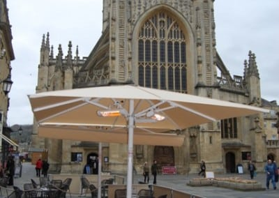 Commercial Heated Parasols – Roman Baths