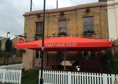 Giant Heated & Lighted Parasol Craft Beer Capham London