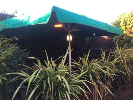 Giant Umbrella HG Wells Pub Worcester
