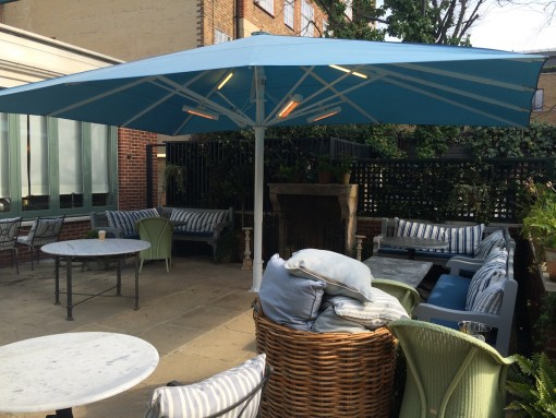 Giant Heated & Lighted Parasol The Ivy Chelsea London