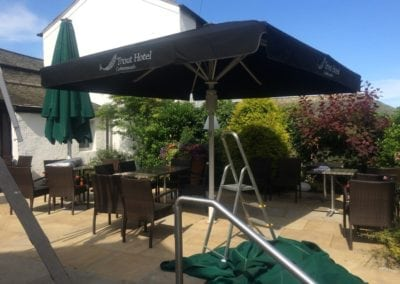 Commercial Parasol Cockermouth Cumbria Trout Hotel 2