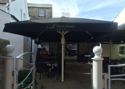 Commercial Parasol Cockermouth Cumbria Trout Hotel 4