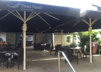 Commercial Parasol Cockermouth Cumbria Trout Hotel 5