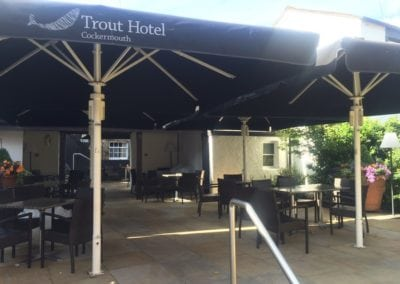 Commercial Parasol Cockermouth Cumbria Trout Hotel 6