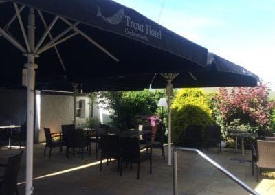 Commercial Parasol Cockermouth Cumbria Trout Hotel 7
