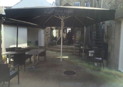 Commercial Parasol Cockermouth Cumbria Trout Hotel 8