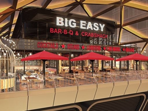 Commercial Parasols Canary Wharf London Big Easy Restaurant