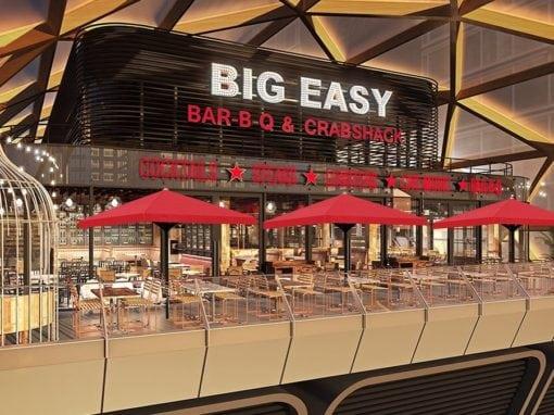 Commercial Parasols Canary Wharf London Big Easy Restaurant