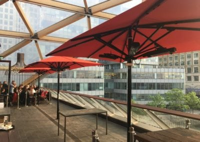 Commercial Parasols Canary Wharf London 2