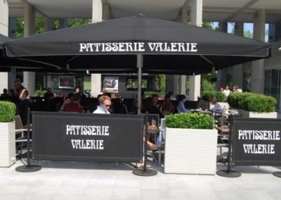 Commercial Parasols Covent Garden London Patisserie Valerie 1