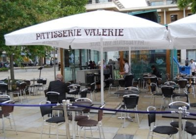 Commercial Parasols Covent Garden London Patisserie Valerie 5