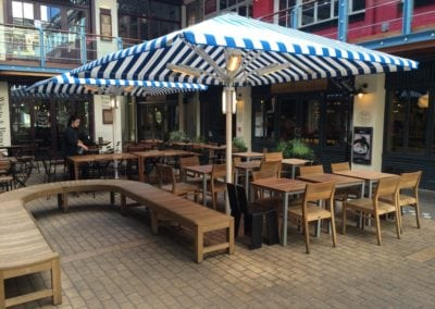 Commercial Parasols Westminster W1 Shaftsbury PLC Kingley Court London 10