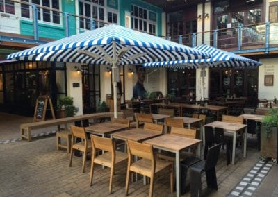 Commercial Parasols Westminster W1 Shaftsbury PLC Kingley Court London 12