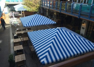 Commercial Parasols Westminster W1 Shaftsbury PLC Kingley Court London 6