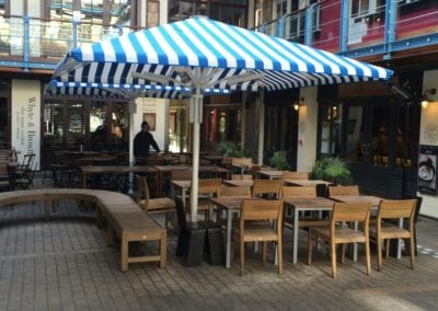 Commercial Parasols Westminster W1 Shaftsbury PLC Kingley Court London 8