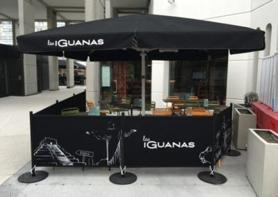 Commercial Parasols and Cafe Banners Las Iguanas Brunswick London 1