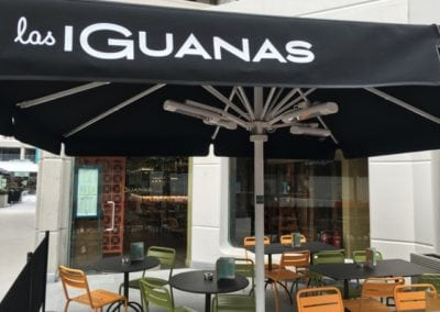 Commercial Parasols and Cafe Banners Las Iguanas Brunswick London 2
