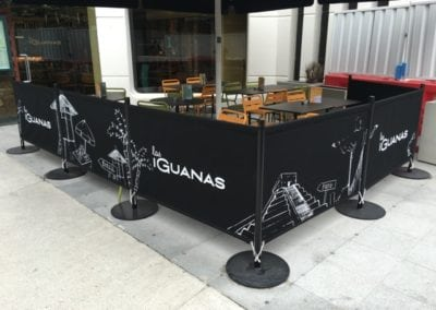 Commercial Parasols and Cafe Banners Las Iguanas Brunswick London 3