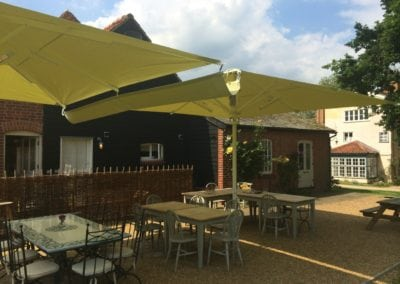 Commercial Parasols with Heating and Lighting Buxhall Restaurant Suffolk 2