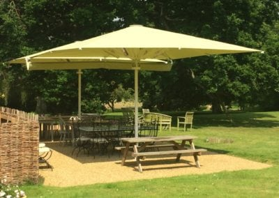Commercial Parasols with Heating and Lighting Buxhall Restaurant Suffolk 3