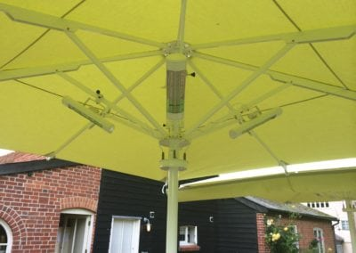 Commercial Parasols with Heating and Lighting Buxhall Restaurant Suffolk 4