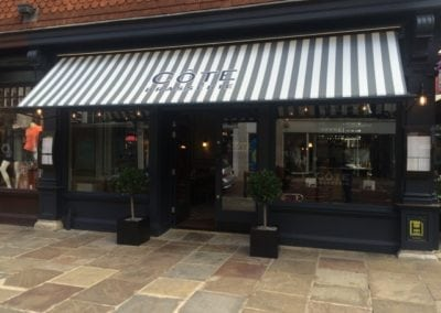 Commercial Parasols with Heating and Lighting and Victorian Awning Cote Restaurant Canterbury  2