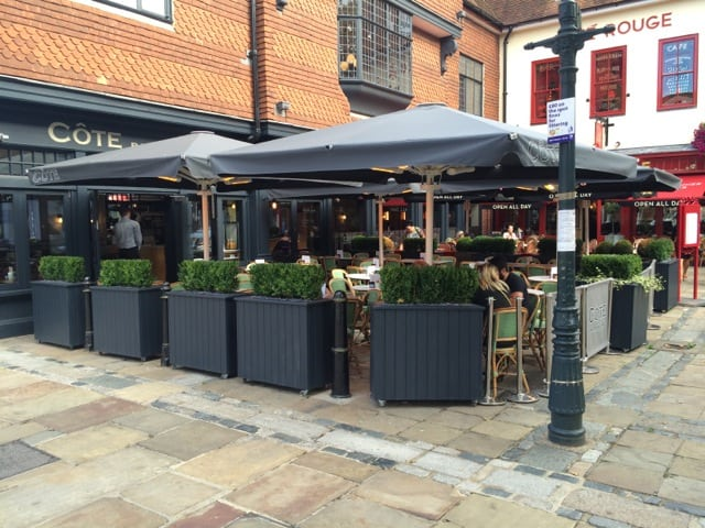 Commercial Parasols With Heating And Lighting And
