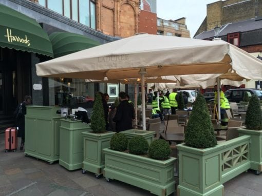 Commercial Parasols Laduree Harrods Knightsbridge London