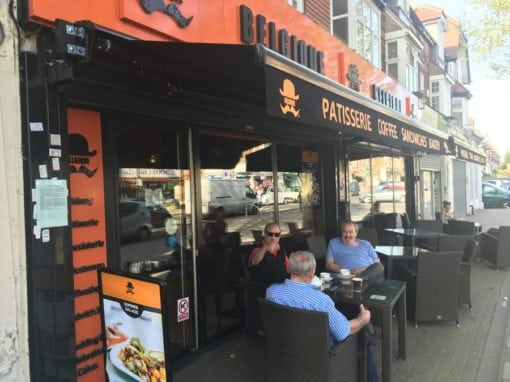 Commercial Awning and Butterfly Awning Wanstead London – Belgique Cafe