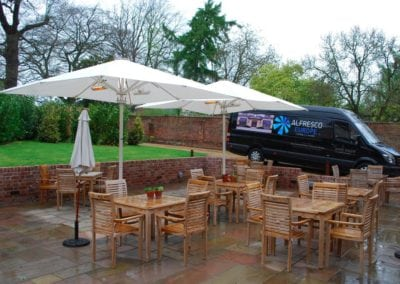 Parasols for Hotels - The Northgate Hotel Restaurant Bury St Edmonds Sufflok 3