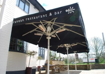 Parasols for Pubs - Ego at The Old Ashfield Pub Nottingham 3