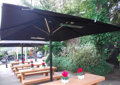 Giant Umbrellas for Restaurants - Sheesh Chigwell 4