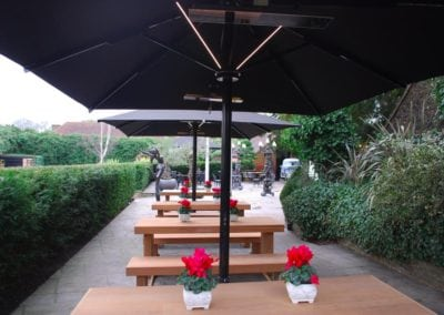 Giant Umbrellas for Restaurants - Sheesh Chigwell 5