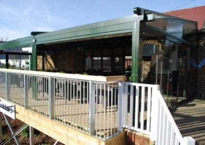 Retractable Enclosure for Youngs Brewery Pub The Grand Junction 3