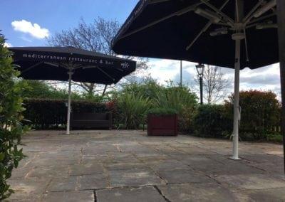 Giant Pub Umbrella for The Fox Preston Northampton 4
